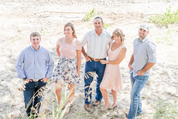 L-R: Cooper, Hope, Steve, Melanie & Angus