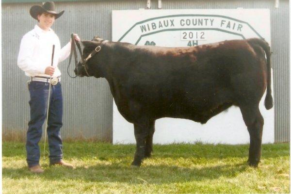 Bob with Escalade-Grand Champion steer 2012