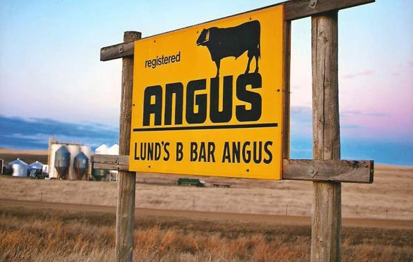 Lund's B Bar Angus Sign