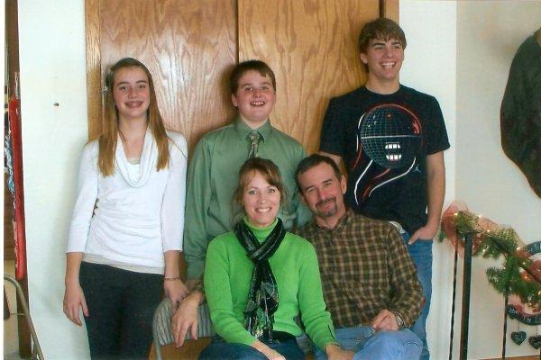 Steve, Melanie, Bob, Cooper & Hope Christmas 2012
