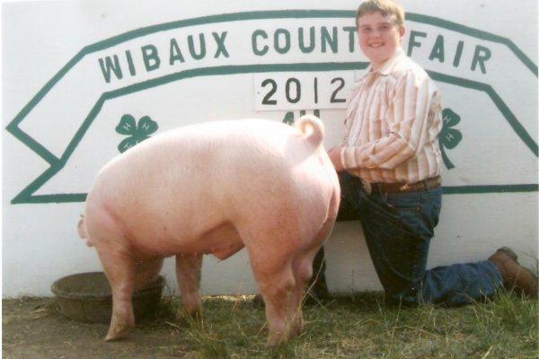 Cooper & Mr. Rooter, 2012 Grand Champion hog