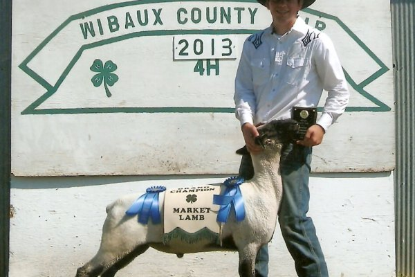 Bob & his 2013 Grand Champion sheep