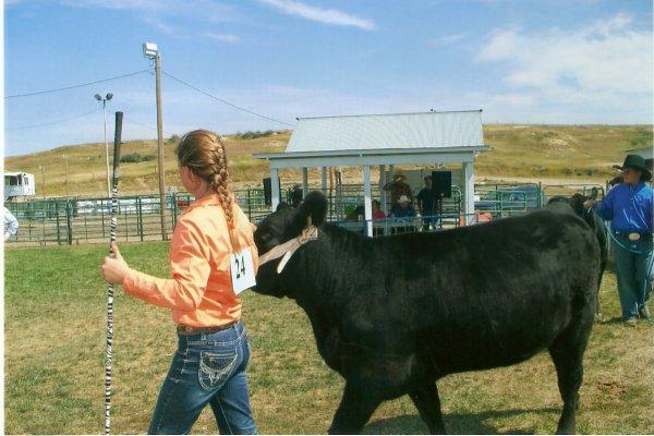 Hope & her Grand Champion Bred Heifer