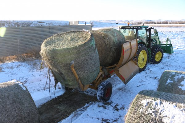 Loaded & ready to process hay for the cows