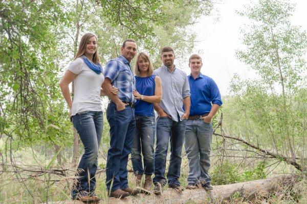 Family picture of Steve, Melanie, Angus, Cooper, & Hope summer 2017